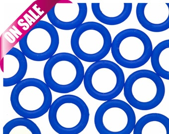 25Pcs jelly blue O-Ring for Flat Licorice Leather 8x2mm