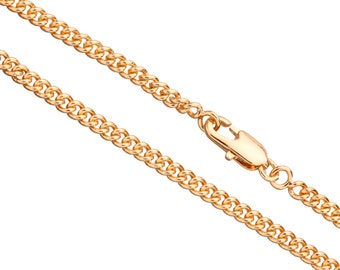 24Inch Necklace Curb Chain With Lobster Claw Clasp