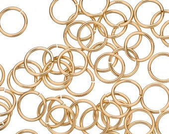 18 gauge Jump Rings Jump Rings gold finished brass 9mm sold per 300pcs