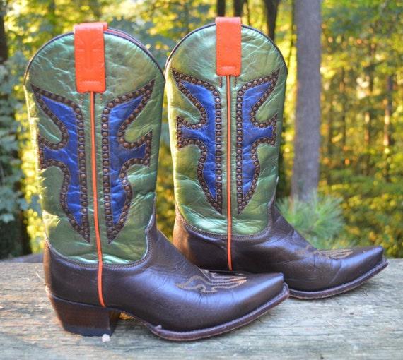 Spanish leather Daisy Duke cowboy boots