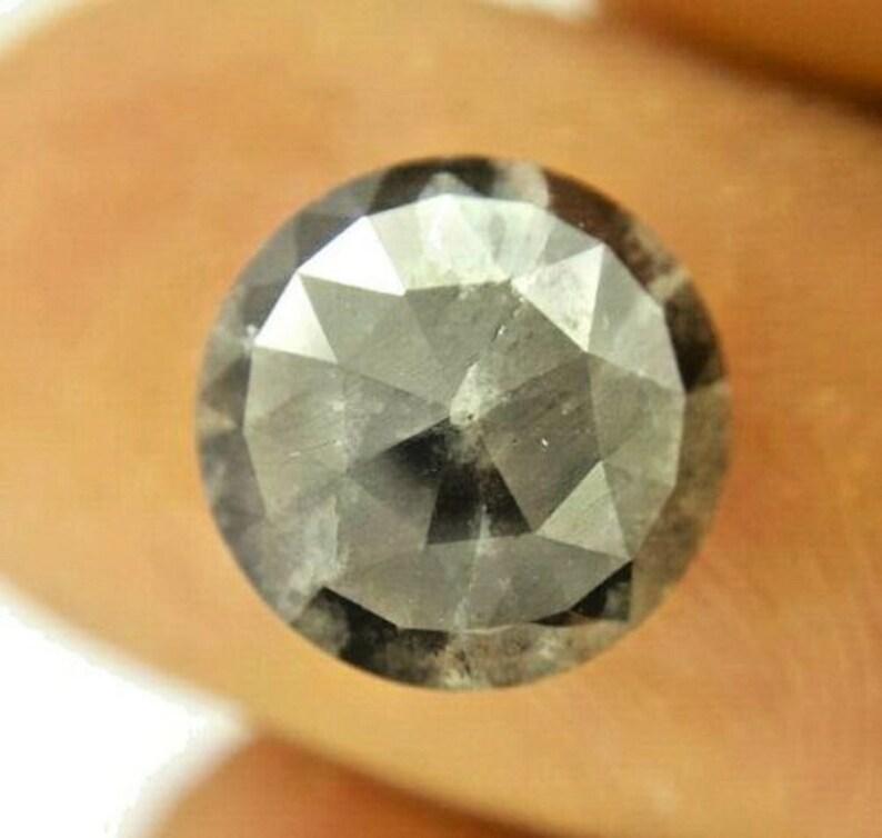 Natural Diamond 3.54TCW Rose cut Diamond Round Diamond Black Diamond Gray Diamond Real Diamond Rustic Diamond Rough Diam Raw Diam Uncut Diam
