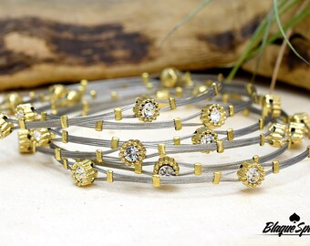Stackable Two Tone Wired Bracelet
