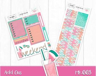 Planner Stickers - Add Ons - Poolside Sticker Kit - Erin Condren Planner Stickers - ECLP Stickers - Summer Planner Stickers - Poolside