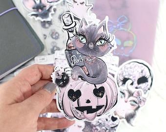 Vellum Dashboards Halloween- TN Vellum Dashboards - Vellum For Travelers Notebook - Traveler's Notebook Vellum - Halloween Vellum Dashboards