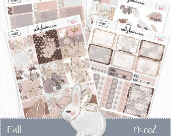 Planner Stickers - Fall Weekly Planner Sticker Kit - Fall Sticker Kit - Erin Condren Planner Stickers - ECLP Stickers - Fall