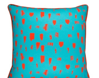 Brush cushion in Turquoise