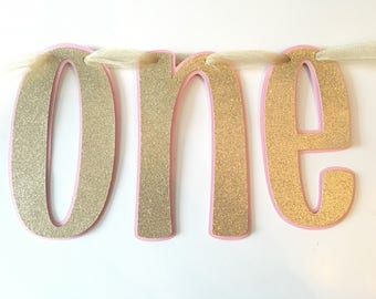 ONE First Birthday Banner- First Birthday High Chair Banner- Birthday Party- First Birthday Banner