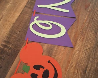 Mickey Mouse Halloween Highchair Banner! MickeyMouse Birthday Party- First Birthday Banner- Halloween First Birthday- Mickey Mouse Pumpkins