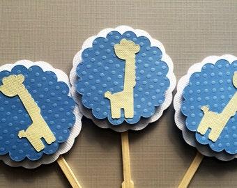 15 Giraffe Cupcake Toppers