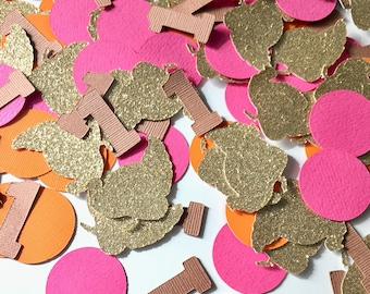 Turkey Confetti- Fall Turkey Confetti- Gold Glitter Turkey Confetti-Fall Birthday- Fall Party Confetti