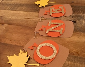 Fall Mason Jar Pumpkin High Chair Banner- Fall First Birthday
