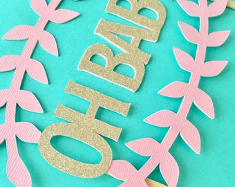 Baby Shower Cake Topper- Oh Baby! Cake Topper- Baby Shower Decor- Baby Cake Topper