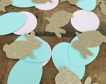 Easter Bunny Confetti! Birthday Party, Spring Confetti- Bunny Confetti- Oversized