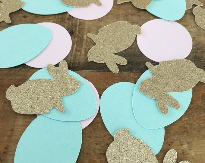 Featured listing image: Easter Bunny Confetti! Birthday Party, Spring Confetti- Bunny Confetti- Oversized