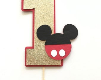 Mickey Mouse Smash Cake Topper! First Birthday Party Cake Topper- Mickey Mouse Theme
