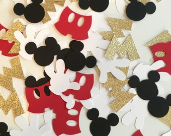 Mickey Mouse Confetti! Mickey Mouse Birthday Decor- Gold Glitter Confetti
