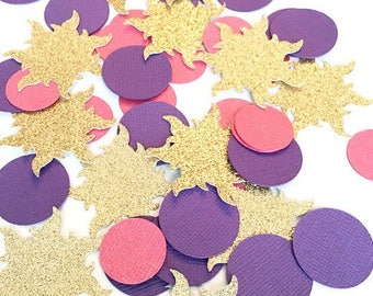 Tangled Confetti! Rapunzel Birthday Party, Rapunzel Confetti- Oversized- Tangled