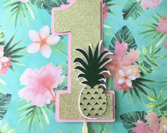 Pineapple Smash Cake Topper! First Birthday Party Cake Topper- Pineapple Party- Luau Pineapple Cake Topper