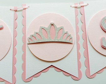 Princess Baby Shower Banner! Tiara Princess Banner- Baby Girl- Princess Baby Shower