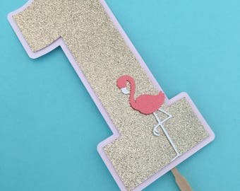 Flamingo Smash Cake Topper! First Birthday Party Cake Topper- Flamingo Themed Party