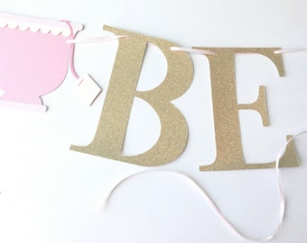 Bride To Be Banner!! Bridal Shower Banner- Bridal Shower Tea Party! Tea Party Banner with Tea Cups