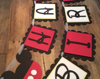 Mickey Mouse Happy Birthday Banner! Mickey Mouse Party- Happy Birthday Banner- Mickey Mouse Club House