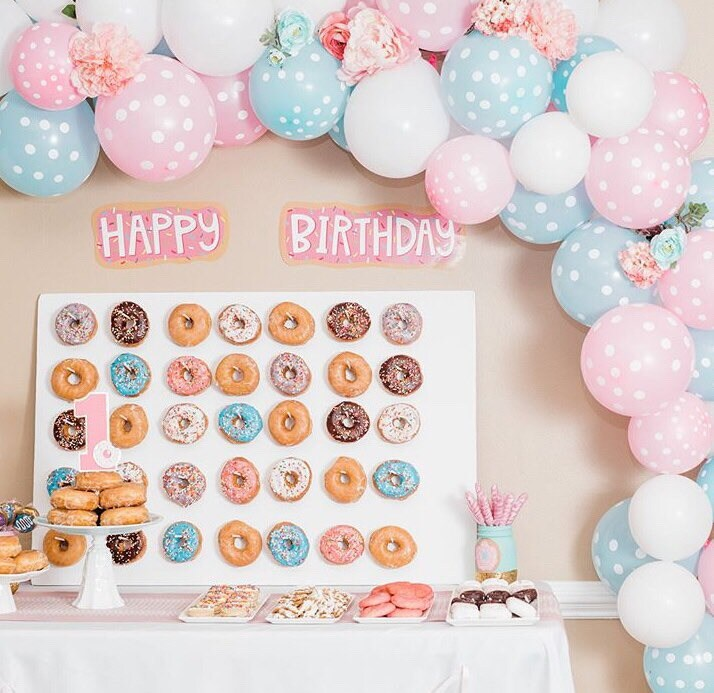 Donut Smash Cake Topper First Birthday Party Themed