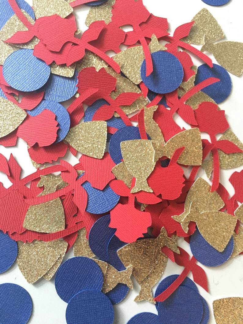 Beauty and the Beast Confetti Beauty and the Beast Birthday Party Belle Confetti Oversized