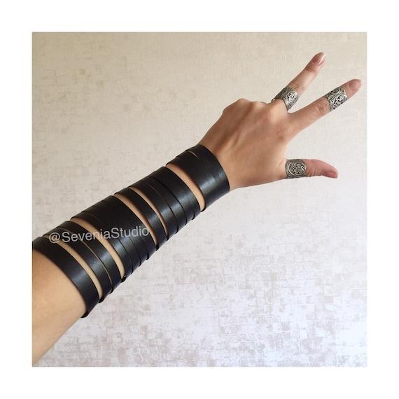 Leder Armband Armbänder Arm wickeln Gürtel Gladiator hand | Etsy