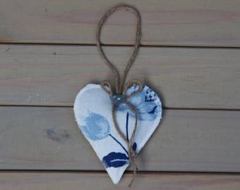 Laura Ashley Summer Palace Royal Blue Lavender Filled Heart - decoration, home decor, gifts