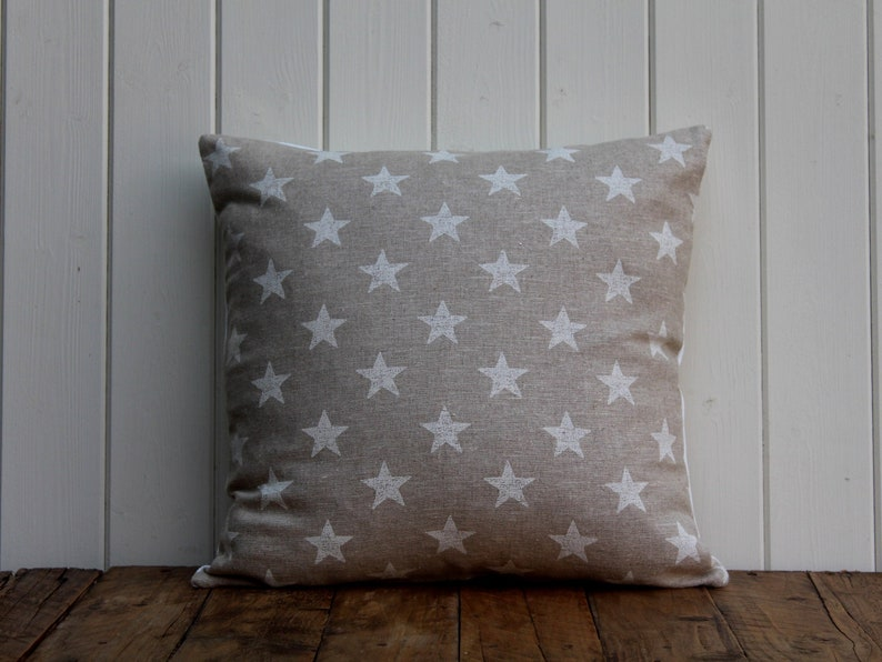 Cushion Cover in Clarke and Clarke White Stars Linen  home image 0