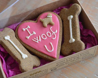 Valentine S Day Dog Treats I Heart U Homemade Dog Etsy