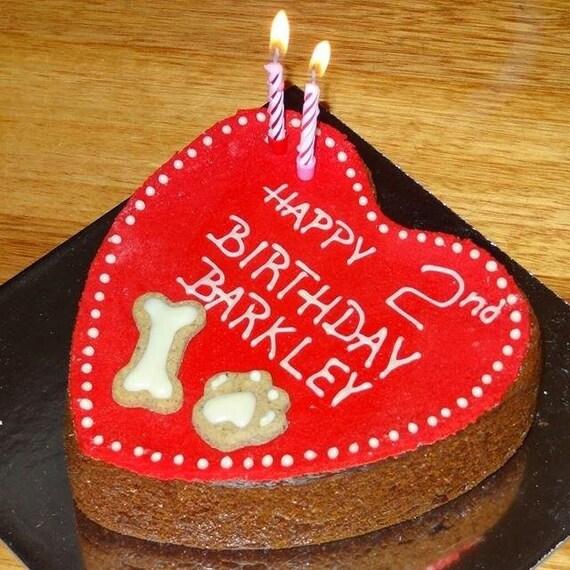 Dog Birthday Cake Heart