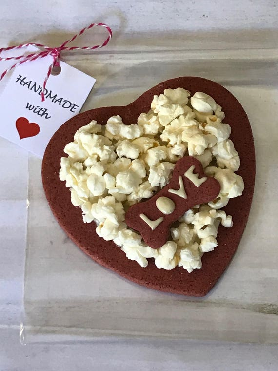 Valentine S Day Dog Treats Blooming Heart Homemade Dog Etsy