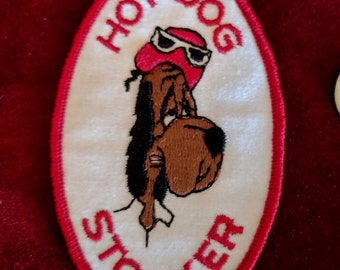 Hot Dog Stocker! Vintage Embroidered Patch