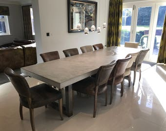 Concrete dining table   Etsy