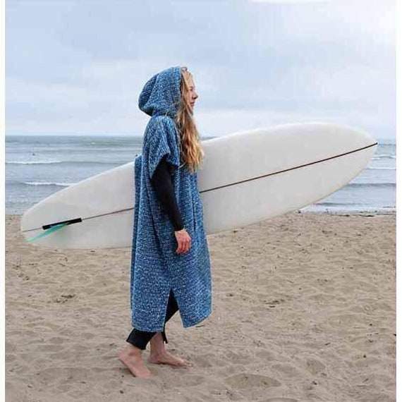 Grey Black Surf Poncho Wetsuit Changing Robe Adult Hooded Towel Surf Robe Changing Poncho Turkish Towel Poncho Lightweight Travel