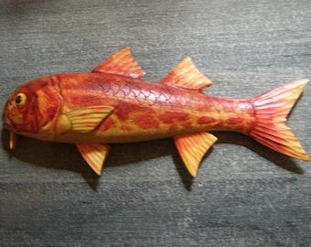 Wall Mask Koi Goldfish 50cm Wooden Mask Mask Pond Fish Mask