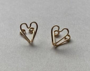 Heart Wire Clip-On Earrings