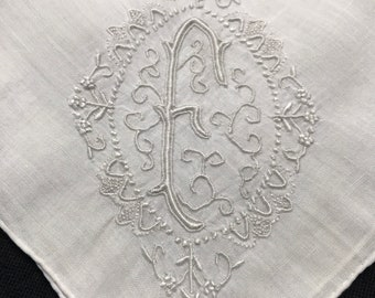 Cloudberry embroidered hankerchief