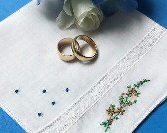 Items Similar To Floral Hanky Hankerchiefs For Wedding Cotton