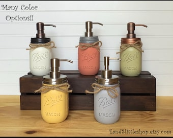 Mason Jar Soap Dispenser-Rustproof Stainless Steel Soap Pump & Lid-Rustic-Shabby Chic Decor-Home Decor-Housewarming gifts-Country Decor