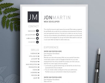 Boutique Resume Template 16 Creative Modern Professional Etsy