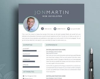bold resume etsy