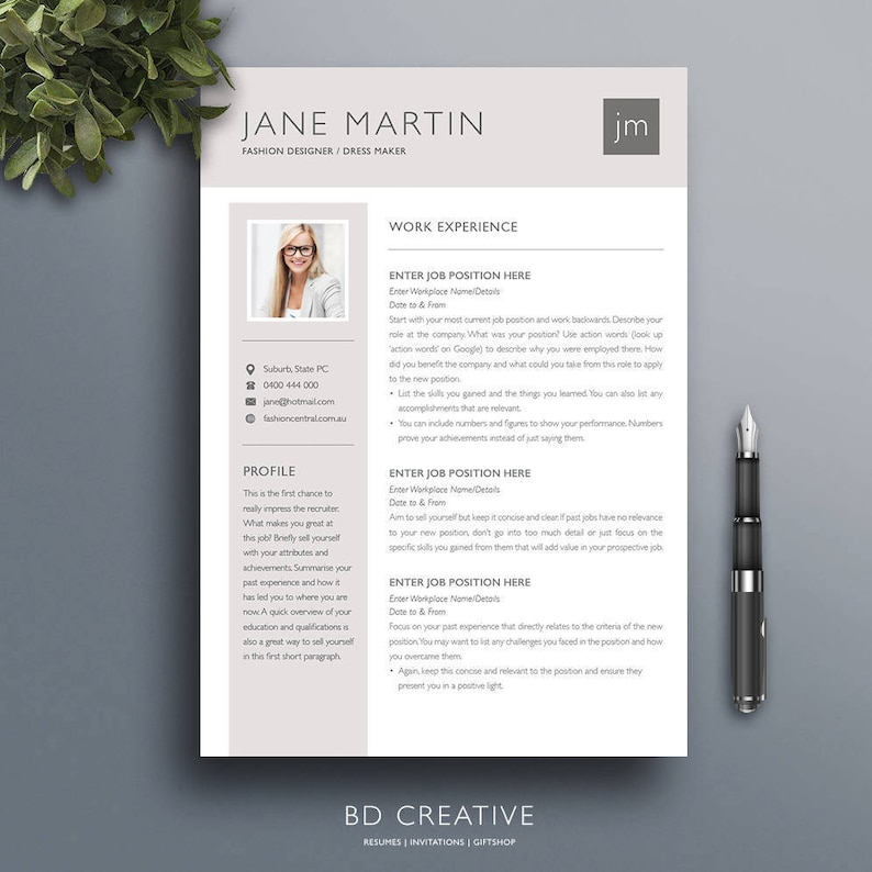 Resume Template 20 Professional Modern Creative CV Cover