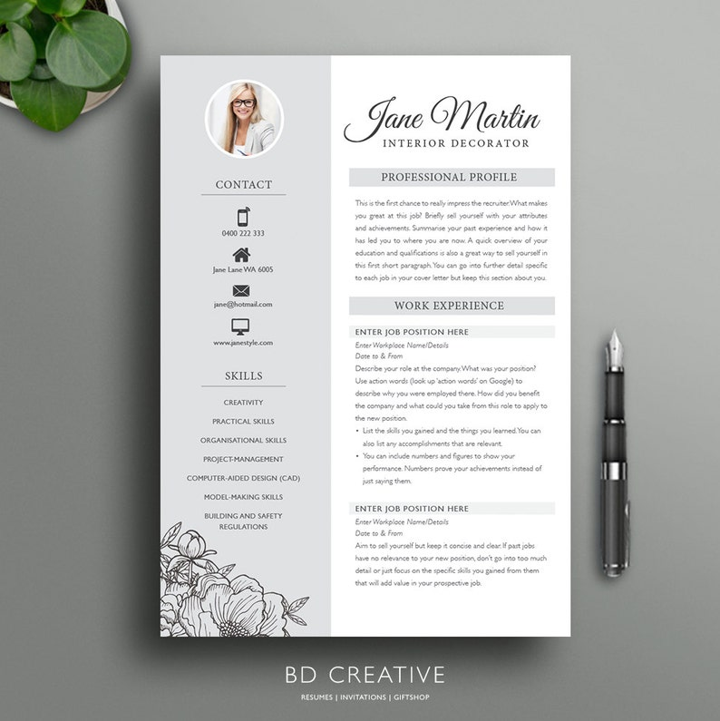 Boutique Resume Template 16 Creative Modern Professional
