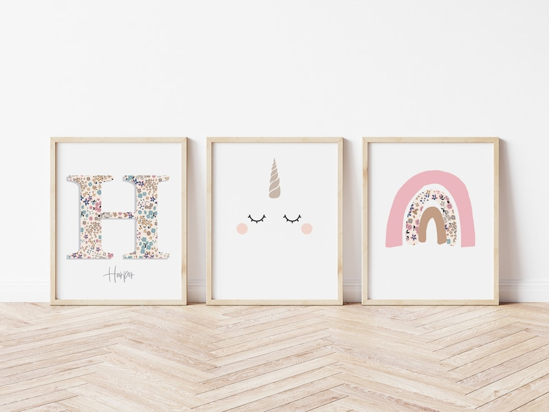 Personalised  Girls Room Wall Art Prints Posters Pictures 3 image 1