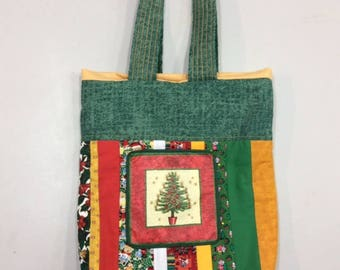 Quilted Christmas Tote