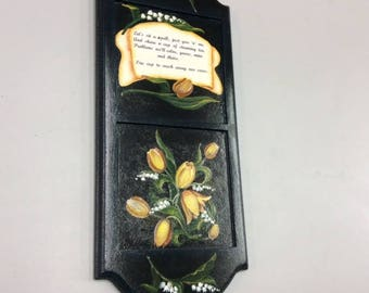 Plaque Painted with Snowdrosps and Tulips