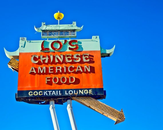 Route 66 Neon Sign Lo S Chinese Restaurant Retro Kitchen Etsy